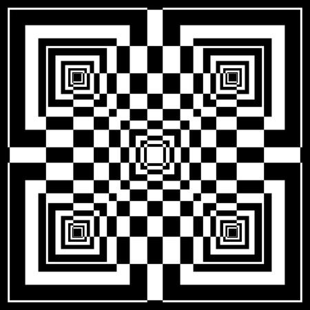 arte optico: Resumen patrón geométrico en estilo de arte op. Vector de arte. Vectores