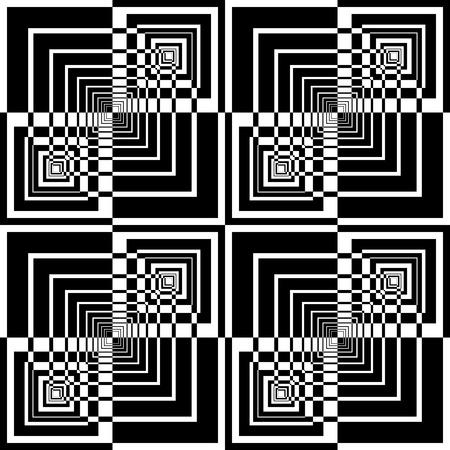 Seamless géométrique dans la conception d'art op. Vecteur d'art.