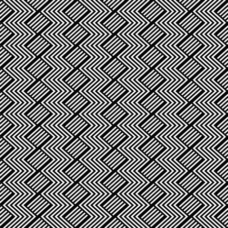 ジグザグのテクスチャとのシームレスな幾何学模様。ベクトル アート。  イラスト・ベクター素材