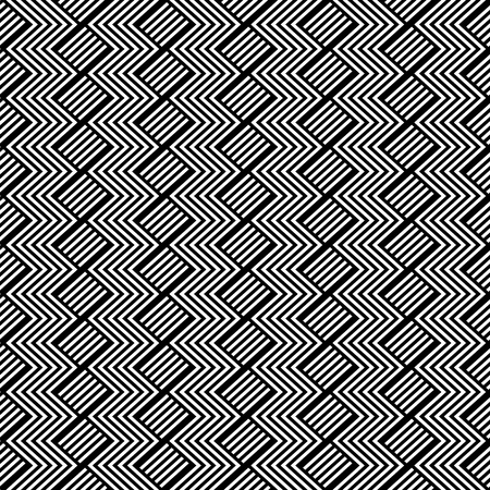 optical illusion: Seamless geometric pattern with zigzag texture. Vector art.