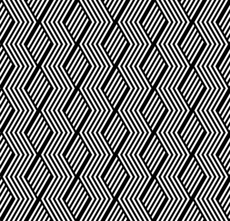 縞模様のテクスチャとのシームレスな幾何学模様。ベクトル アート。