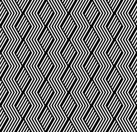 Seamless geometric pattern with striped texture. Vector art.