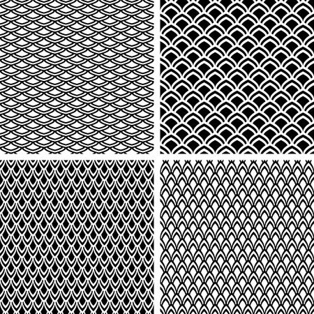 escamas de peces: Patrones sin fisuras creado con la textura de escamas de pescado. Vector de arte. Vectores