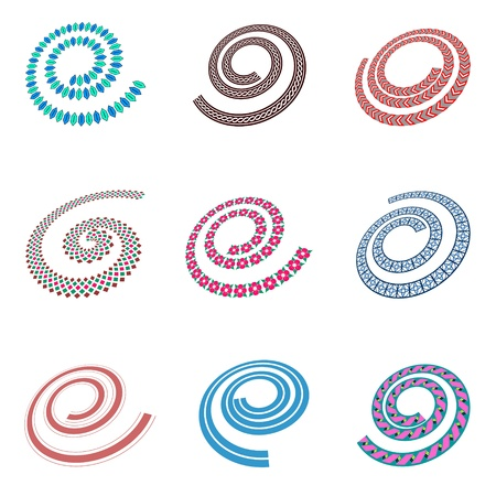 Design elements in spiral shape. Vector