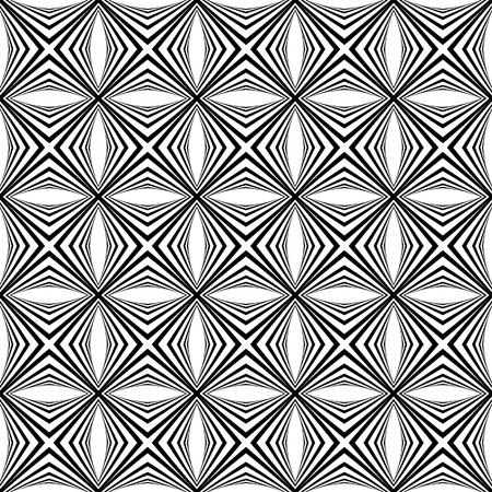arte optico: Patrón geométrico sin fisuras. Vector de arte.