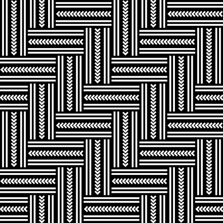 iteration: Seamless pattern geometrici a spina di pesce. Vector art.