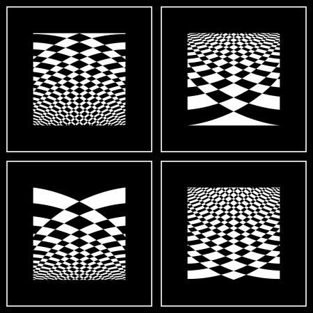 arte optico: Conjunto de fondos abstractos en el arte op style.illustration arte.