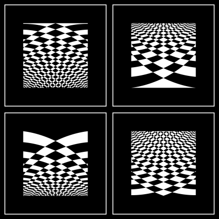 Set of abstract backgrounds in op art style.illustration art. Vector