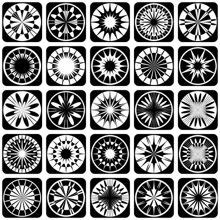 Decorative design elements  Patterns set  Vector