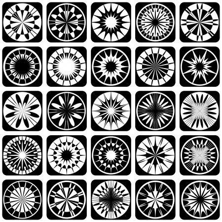 Decorative design elements  Patterns set  Vector