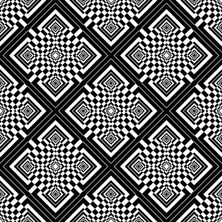 Seamless checked op art pattern Vector