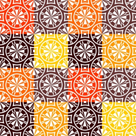 Seamless checked pattern in warm colors Vector