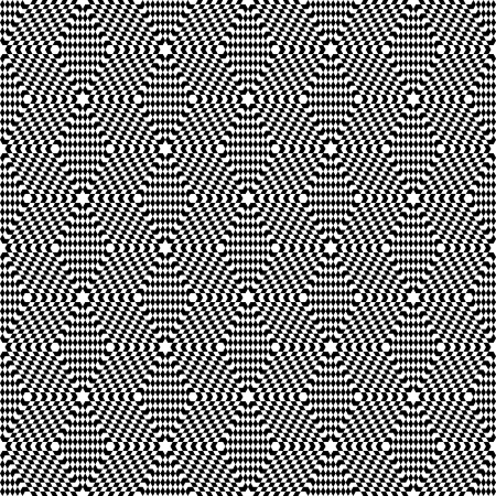 Seamless op art pattern. Hexagons geometric texture.  Vector art. Vector