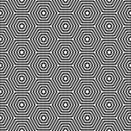 Seamless op art pattern. Hexagons geometric texture.  Vector art.