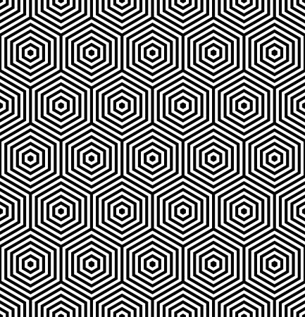 iteration: Esagoni struttura senza soluzione di continuit�. Disegno geometrico. Vector art.