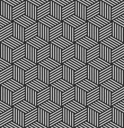 Seamless pattern in op art design. Geometric hexagons and diamonds texture. Abstract textured background. Illustration. Standard-Bild