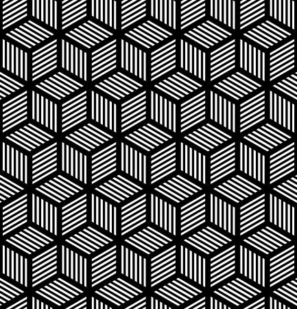 Seamless trama geometrica in art design op. Vector art.