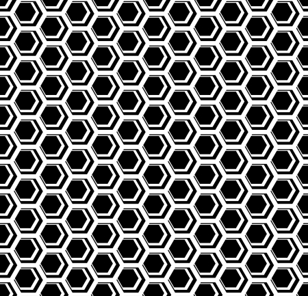 iteration: Seamless hexagons cellular texture. Honeycomb motif. Vector art. Illustration