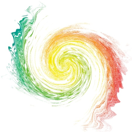 Multicolor vortex isolated on white  Abstract backdrop  Illustration