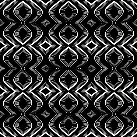 op: Seamless op art texture  Undulation illusion  Vector art