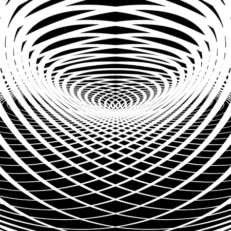 Optical illusion abstract background. Vector art. Vector