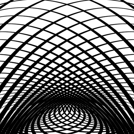 warped: Optical illusion abstract background. Vector art.
