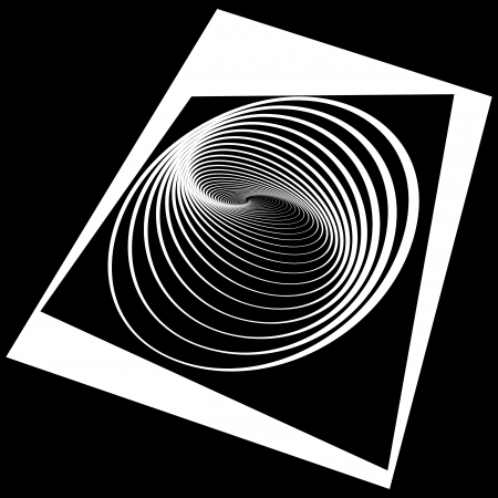 Abstract op art design. Vector art. Vector