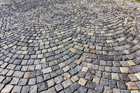 Stone paving texture. Abstract structured background. photo