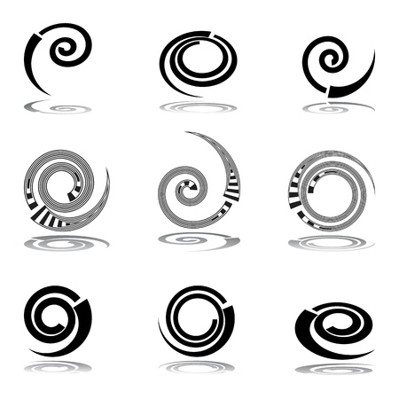 Helix design elements. Vector art. Vector