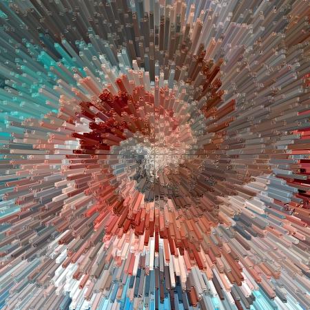Burst, abstract textured background, illustration