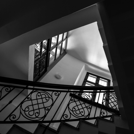 Staircase interior  Architectural background  photo