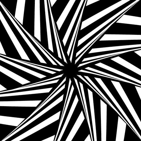Rotation illusion. Abstract design. Vector art.