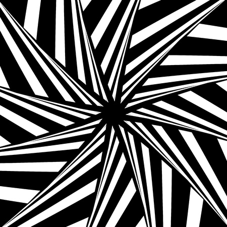 Rotation illusion. Abstract design. Vector art. Vector