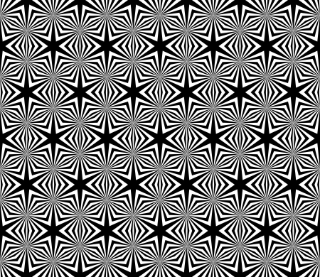white star line: Seamless decorative hexagons texture.  Illustration