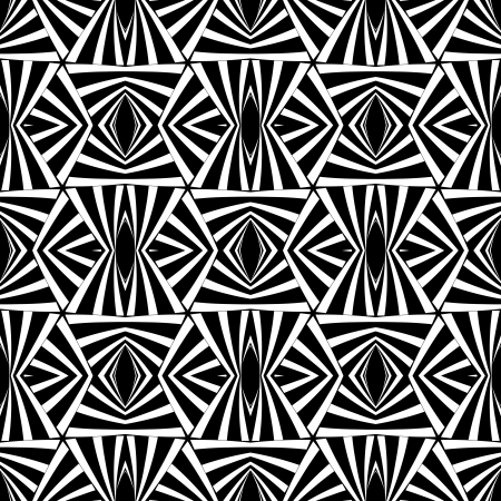 illusions: Seamless geometric op art texture.