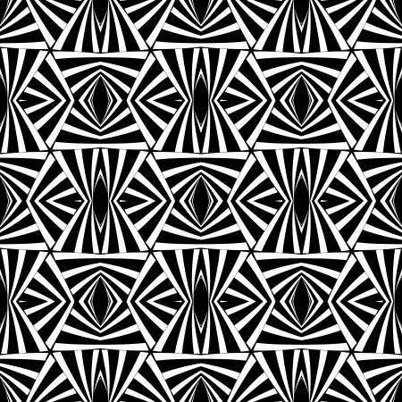 iteration: Seamless geometric op art texture.