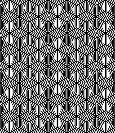 Seamless op art geometric texture. Vektorové ilustrace