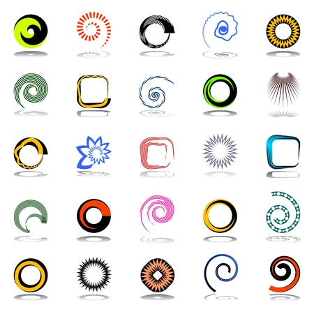 Design elements set. Abstract icons. Vector art. Stock Vector - 16579562
