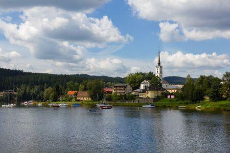 lipno:  Frymburk - small town near Lipno lake, Czech Republic. Stock Photo