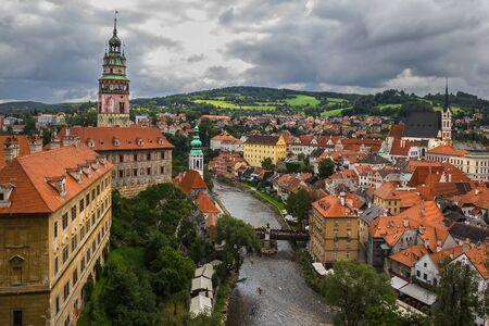 View of Cesky Krumlov, Czech Republic. photo
