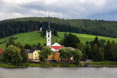 lipno:  Frymburk - small town near Lipno lake in Czech Republic. Editorial