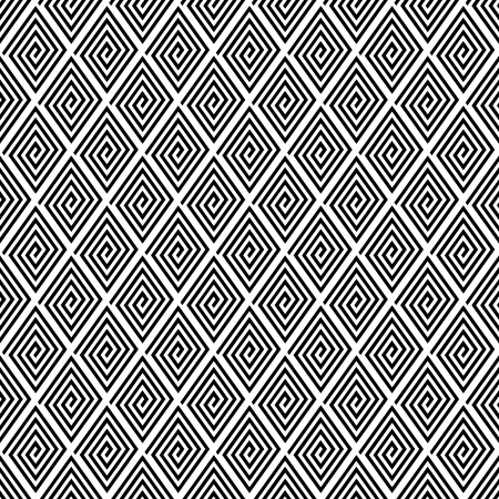 grecian: Seamless geometric texture with spiral diamond elements.   Illustration