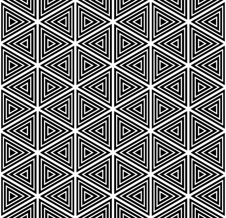 hexagonal shaped: Seamless geometric pattern. Vector art.