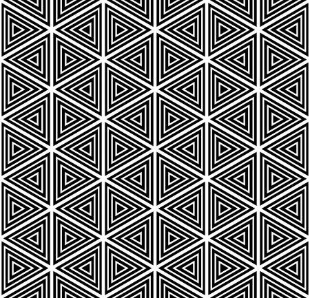 triangular shape: Seamless geometric pattern. Vector art.