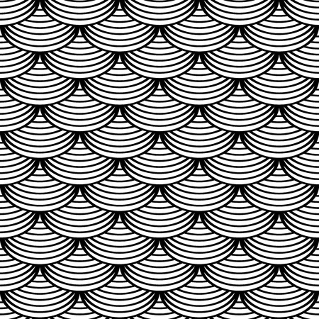 fish scales: Seamless geometric pattern in