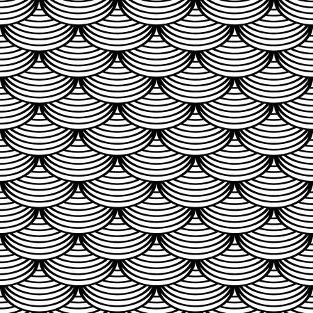 escamas de peces: Seamless patrón geométrico en