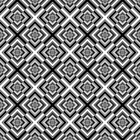Seamless geometric checked pattern Vector