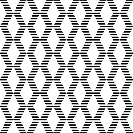 Seamless geometric zigzags and diamonds pattern.  Vector