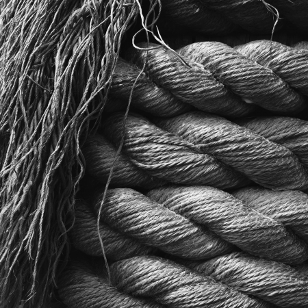 Hemp Rope Textured Background.