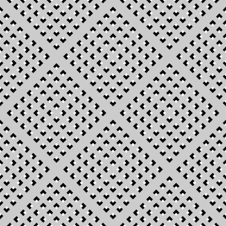 Seamless texture géométrique cochée. Vector art.